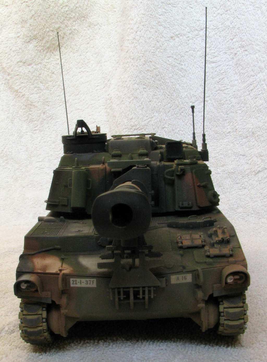 Completed M109a6 Paladin Kitbash Kinetic Italeri